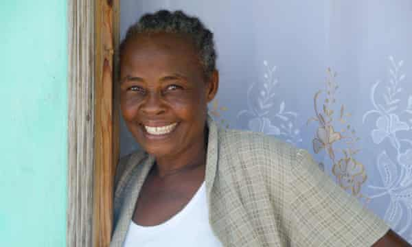 Miliana Delvard, 56, now lives in Village Solidarite. She supports her four children by selling ice and ice lollies to the community.