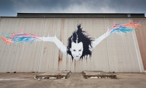 Vexta's work on a wall on Cockatoo Island, Sydney, Australia.