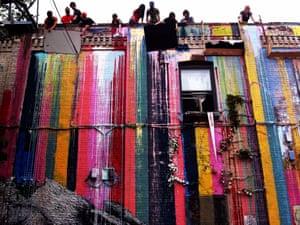 Maya Hayuk's paint tour in New York.