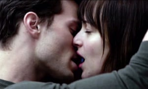 Jamie Dornan and Dakota Johnson in Fifty Shades of Grey.
