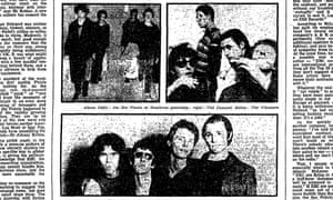 New punk bands the Sex Pistols, The Damned and The Vibrators, Guardian 10 January 1977