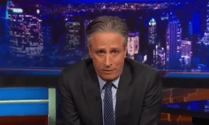 Jon Stewart opened Wednesday's Daily Show by reflecting on the Charlie Hedbo attack