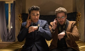 James Franco, left, as Dave Skylark and Seth Rogen as Aaron in a scene from The Interview. Sony Pictures Entertainment says the film has made more than $31m from its online and on-demand release.