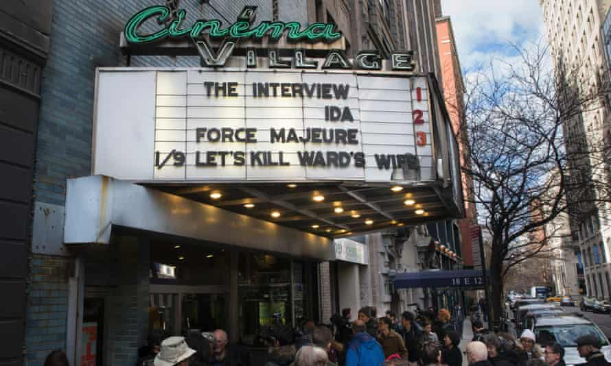 The film's release had been cancelled after the hack on Sony Pictures, but the decision was later reversed. Queues of people waited to see it at a cinema in New York when it came out on Christmas day.
