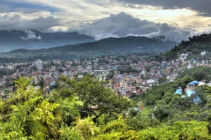 The view of Kathmandu from Swayambhunath, the temple complex overlooking the Nepal capital from the west. Photograph: Ivan Vdovin/Getty Images/AWL Images RM