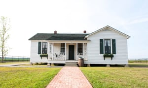 It may look unassuming, but this small farmhouse in Arkansas is where the legendary Johnny Cash started out in life. The house - just an hours drive from Elvis's homestead of Graceland - has been recently restored with an impeccable eye for detail; the lino floor still bears the original burn marks from the stove.
