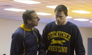 Steve Carell and Channing Tatum in Foxcatcher.