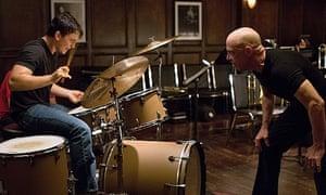 Miles Teller and JK Simmons in Whiplash