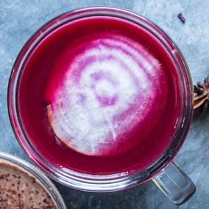 Warming beet juice