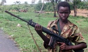 Child soldier in Sierra Leone
