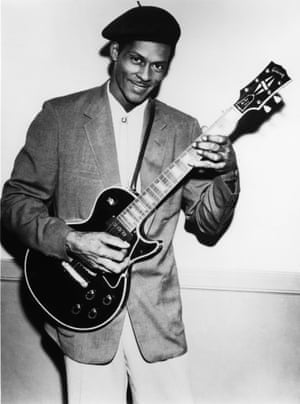 Chuck Berry and his Gibson Les Paul in the 1950s