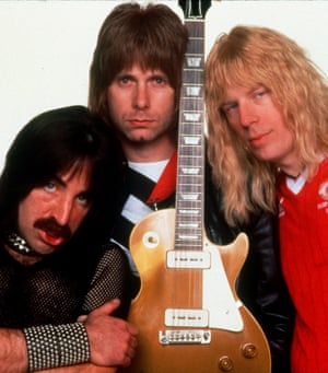 Christopher Guest as Nigel Tufnel of Spinal Tap in  1984