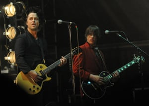 Billie Joe Armstrong of Green Day  with Dave Minehan of The Replacements at the Shaky Knees Music Festival  in 2014