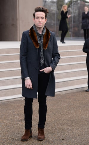 Nick Grimshaw at last year's London Collections: Men Autumn/Winter 2014