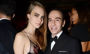 Cara Delevingne with John Galliano last month
