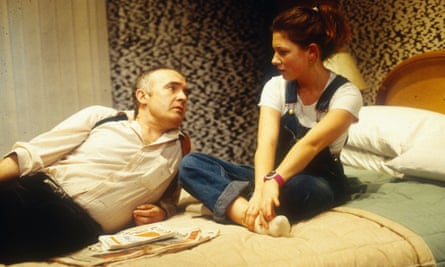 Pip Donaghy as Ian and Kate Ashfield as Cate in Blasted at the Royal Court in January 1995.