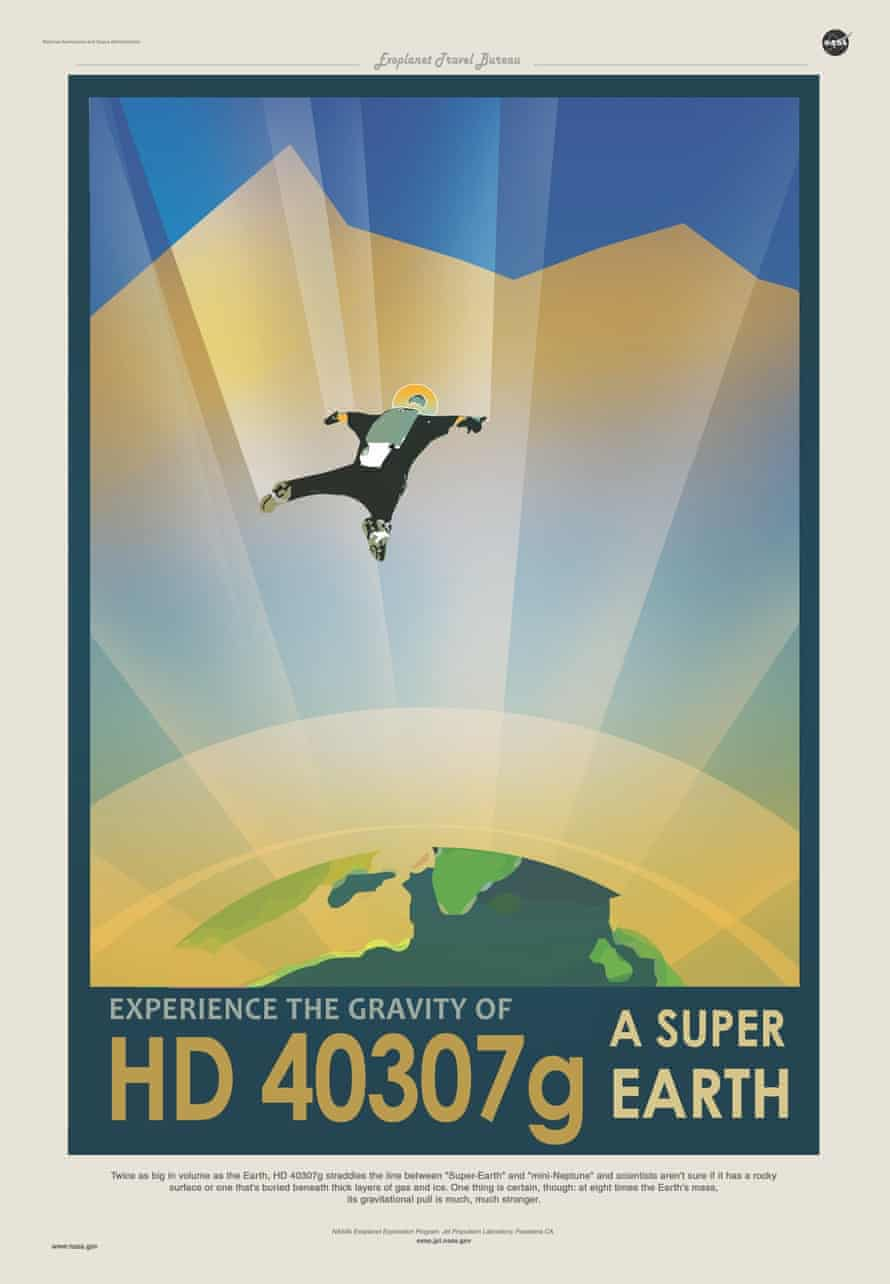 The planet HD 40307g boasts a far stronger gravitational pull than the earth, but may be popular with skydivers.