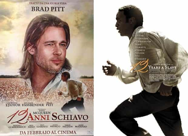 12 Years a Slave film poster for Italy (left) and the UK version (right).