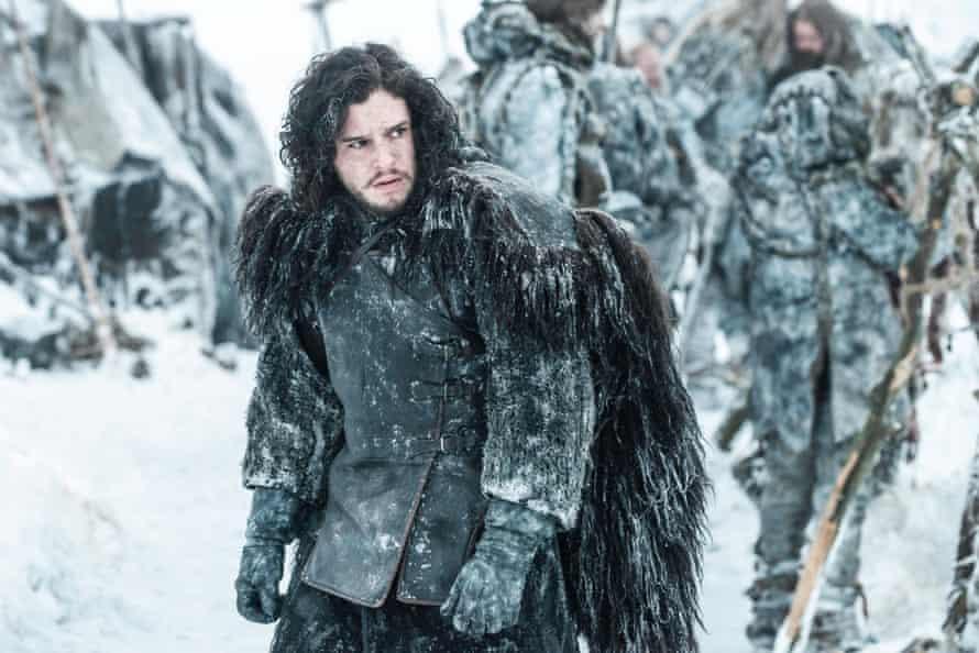 Harington as Jon Snow in Game of Thrones.