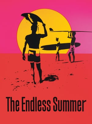 The Endless Summer, John Van Hamersveld, 1964. This poster for Bruce Brown's surfing documentary became one of the most popular California images of the era.