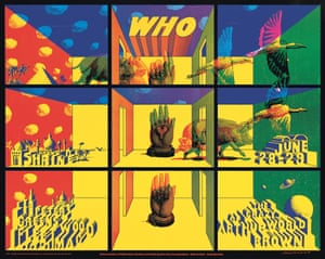 The Who (with Fleetwood Mac) Shrine Auditorium concert poster by John Van Hamersveld and Victor Moscoso, 1968. Van Hamersveld founded Pinnacle Productions in 1967 to link music promotion with art, and this concert was a real achievement for the recently-opened production company.