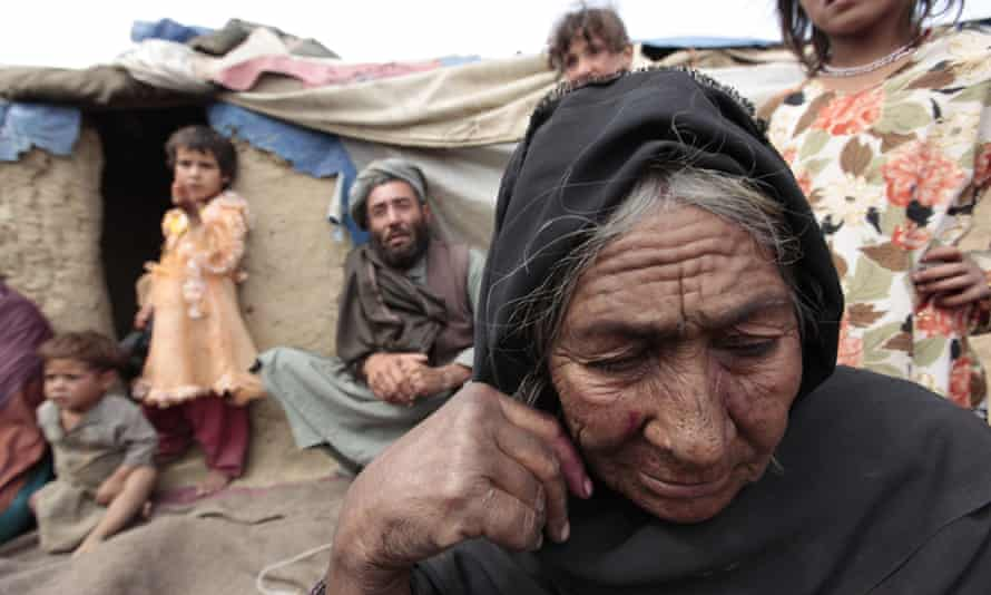 old refugee woman