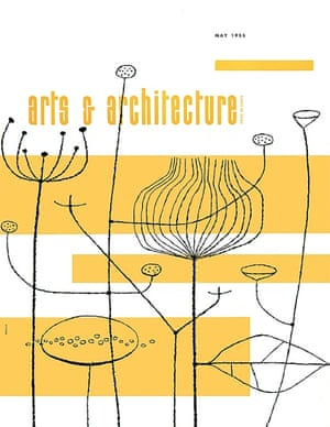 Art & Architecture magazine cover 1955 by John Follis. Follis was a former student of aforementioned Alvin Lustig (see Three Lives book cover) and was one of the first to apply the conventions of graphic design to architecture. (Courtesy of Art & Architecture Archives)