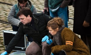Gilou and Laure Berthaud in Spiral series five, episode one