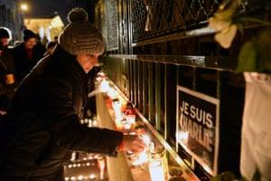 Charlie Hebdo tributes: Budapest, Hungary