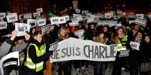 Charlie Hebdo tributes: Cluj-Napoca, Romania