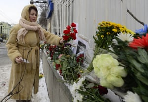 Charlie Hebdo tributes: Moscow, Russia