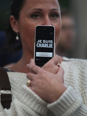 Charlie Hebdo tributes: Miami, Florida, US