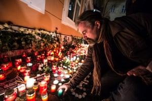 Charlie Hebdo tributes: Prague, Czech Republic