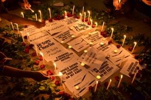 Charlie Hebdo tributes: Bangkok, Thailand