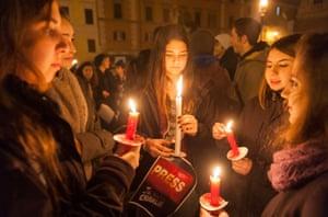 Charlie Hebdo tributes: Rome, Italy