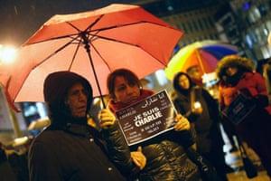 Charlie Hebdo tributes: Frankfurt, Germany