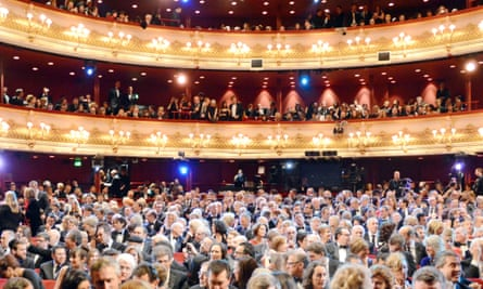 The crowds take their seats at last year's ceremony