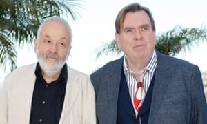 Mike Leigh and Timothy Spall at Cannes, where Mr Turner won the best actor award.