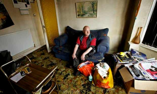 Hoarder Arthur Porter at his Coventry home.