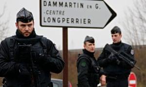 French gendarmes in Dammartin-en-Goele, north-east of Paris