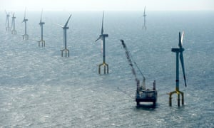 The BARD Offshore 1 windfarm, 100 kilometres (62 miles) north-west of the German island of Borkum in the North sea.