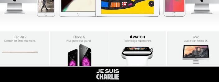 je suis charlie apple website