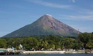 One of the volcanoes on Ometepe island.
