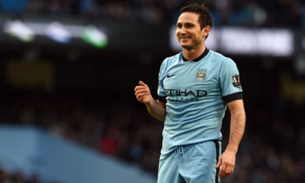 Manchester City's English midfielder Frank Lampard smiles during the English FA Cup third round football match between Manchester City and Sheffield Wednesday at The Etihad Stadium in Manchester, north west England on January 4, 2015. AFP PHOTO / PAUL ELLIS  RESTRICTED TO EDITORIAL USE. No use with unauthorized audio, video, data, fixture lists, club/league logos or live services. Online in-match use limited to 45 images, no video emulation. No use in betting, games or single club/league/player publications.PAUL ELLIS/AFP/Getty Images