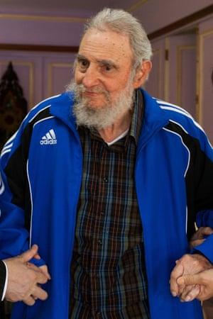 Fidel Castro in a rare public appearance in April 2014.