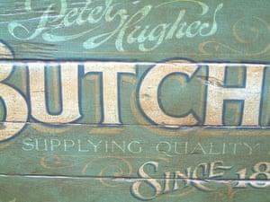 Butcher sign by David Kynaston