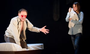 Danny Webb (Ian) and Lydia Wilson (Cate) in Blasted at the Lyric Hammersmith in 2010.