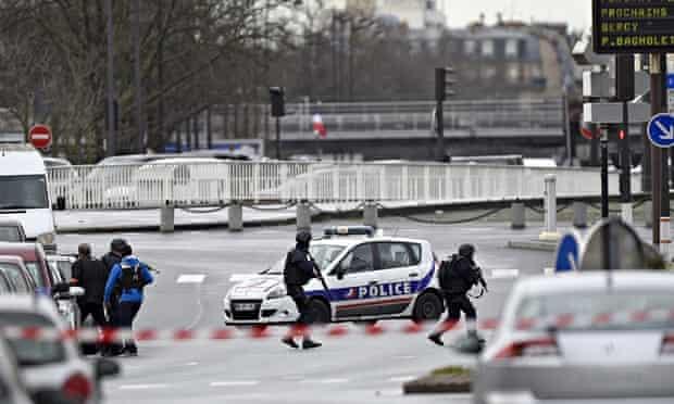 Paris police at Porte de Vincennes