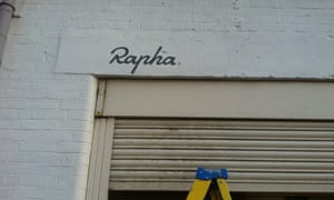 Rapha sign by Londoner Alice Mazzilli