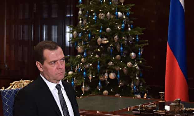 Russia's prime minister Dmitry Medvedev (l), who signed off on the law amendment late last year.